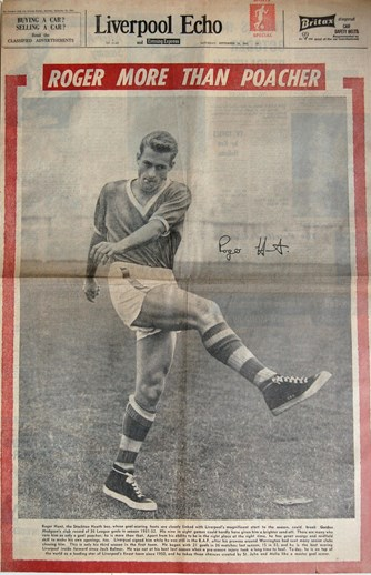 Roger Hunt on the cover of the Liverpool Echo on 23 September 1961