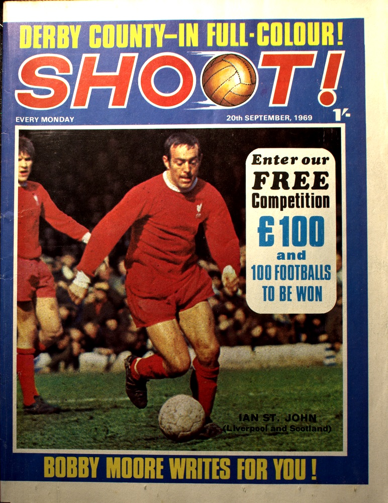 St John on the cover of Shoot! on 20 September 1969
