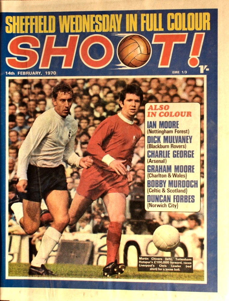 Lawler on the cover of Shoot! on 14 February 1970