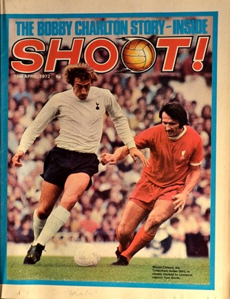 Tommy Smith on the cover of Shoot! 15 April 1972