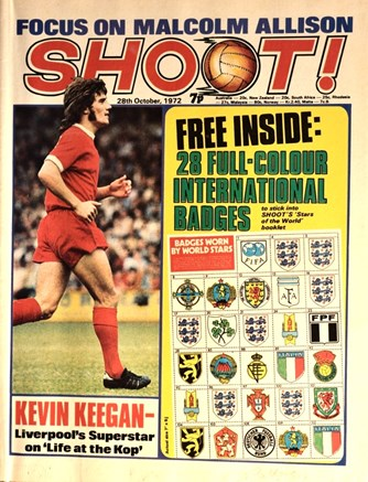 Kevin Keegan on the cover of Shoot!