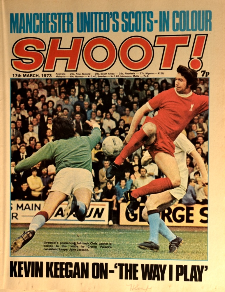 Lawler on the cover of Shoot! on 17 March 1973