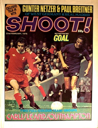 Callaghan on the cover of Shoot! on 22 February 1975