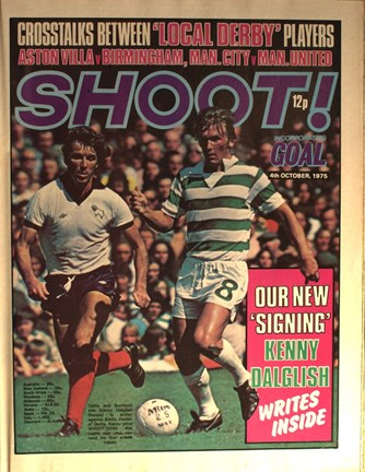 Dalglish on the cover of Shoot! 4 October 1975