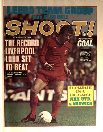 Callaghan on the cover of Shoot! on 8 November 1975