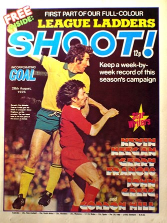Steve Heighway on the cover of Shoot! 28 August 1976