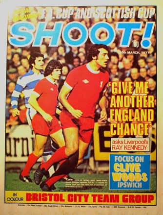 Ray Kennedy on the cover of Shoot! 26 March 1977