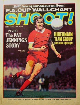 Joey Jones on the cover of Shoot! 28 January 1978