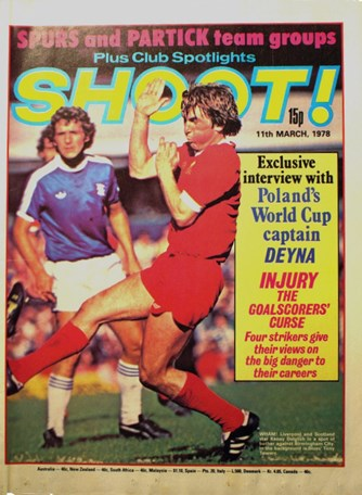 Kenny Dalglish on the cover of Shoot!