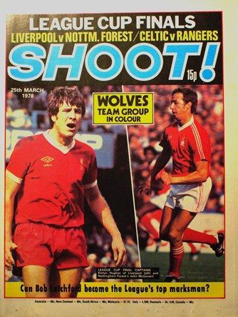 Emlyn Hughes on the cover of Shoot!