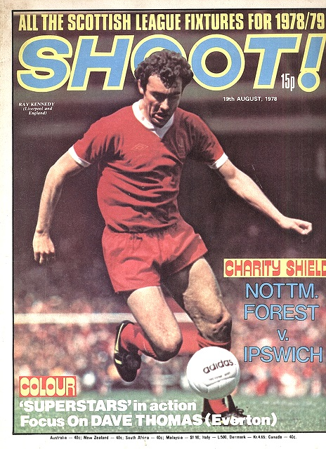 Ray Kennedy on the cover of Shoot! 19 August 1978