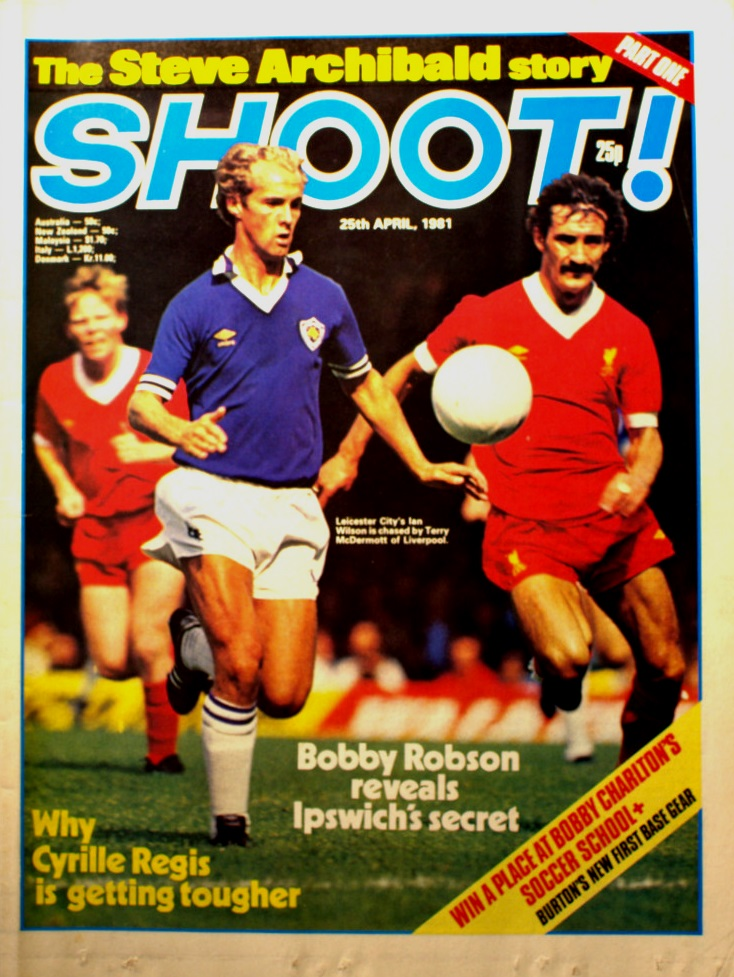 Terry McDermott on the cover of Shoot! 25 April 1981
