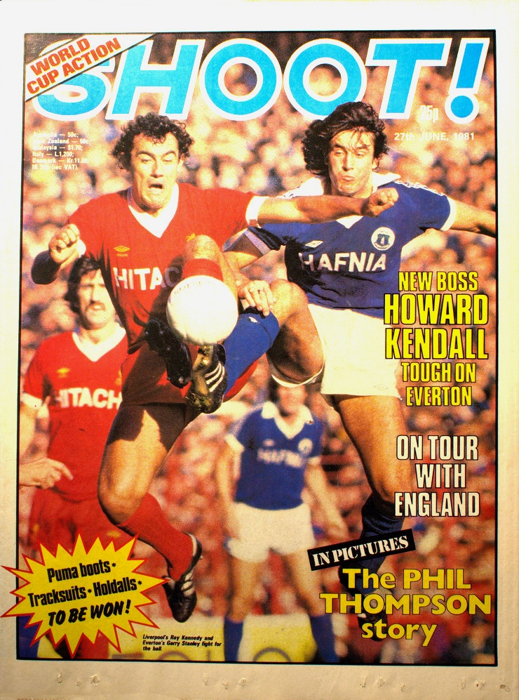 Ray Kennedy on the cover of Shoot! 27 June 1981