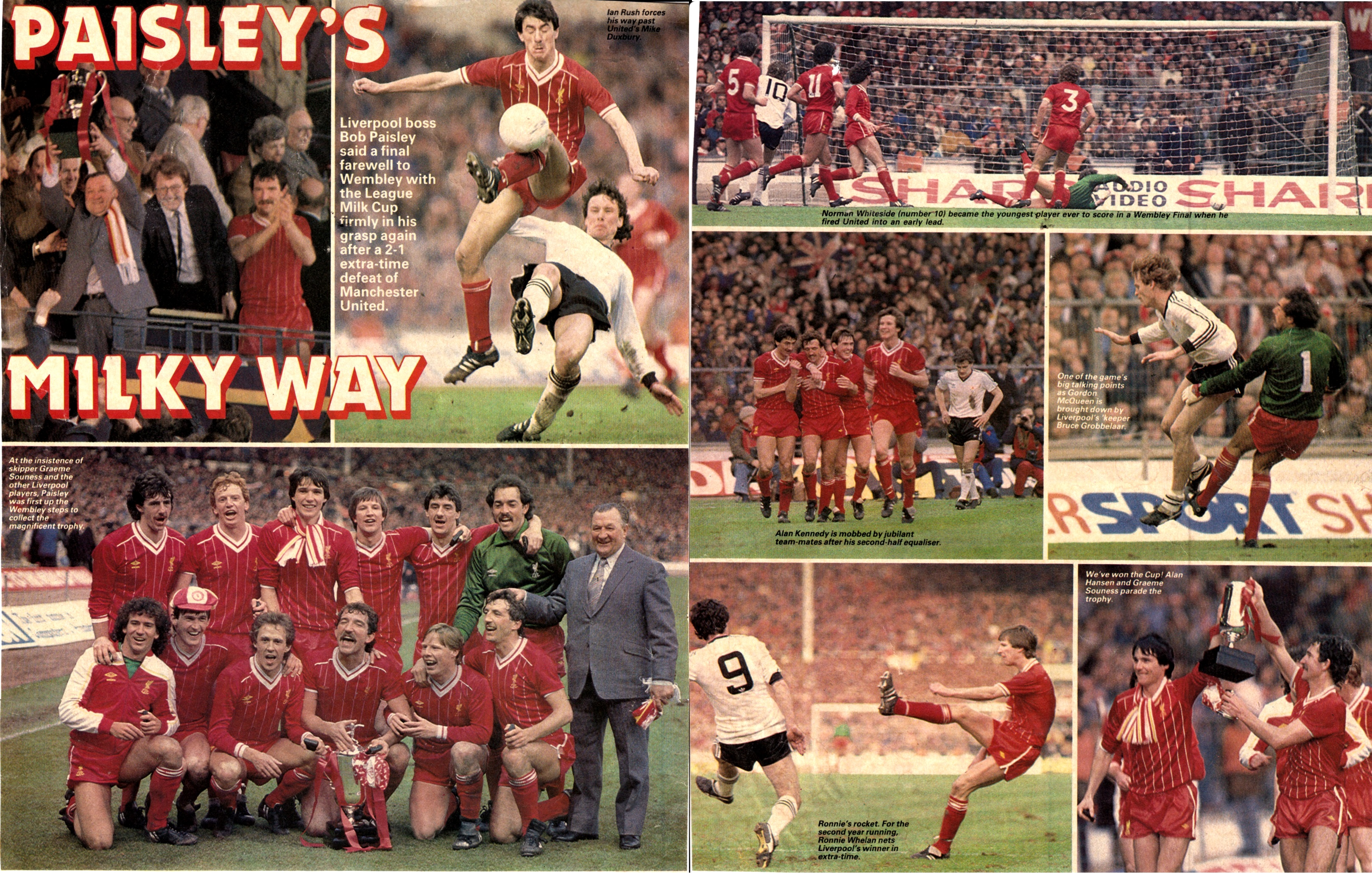 Paisley's Milky Way - League Cup win 1983