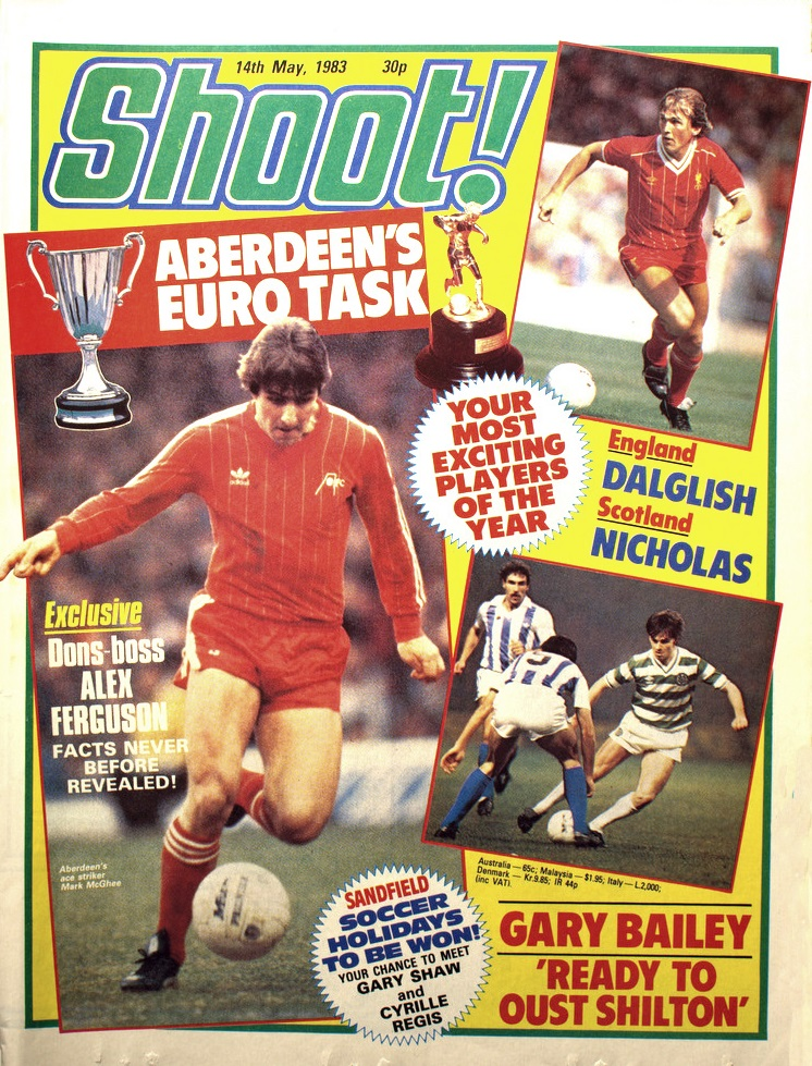 Your most exciting players of the year! - Shoot! cover 14 May 1983