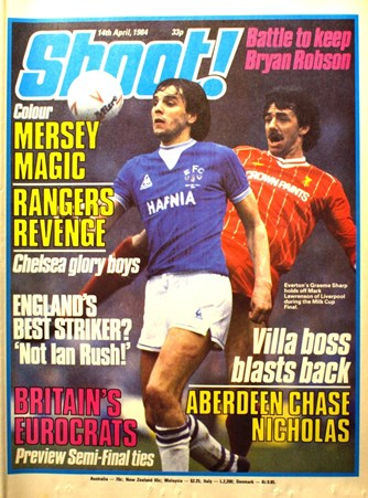 Mark Lawrenson on the cover of Shoot! 14 April 1984
