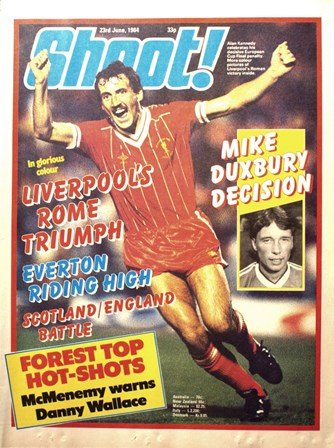 Alan Kennedy on the cover of Shoot! 23 June 1984