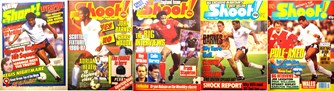 John Barnes on the cover of Shoot! as an England player