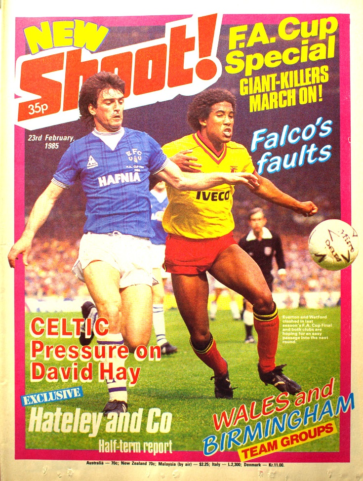 Watford's John Barnes faces Everton in the FA Cup final 1985