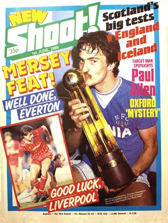 Good luck, Liverpool! - Shoot! cover June 1985