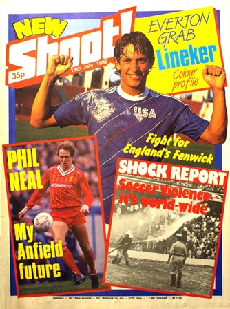 Phil Neal on the cover of Shoot! 13 July 1985