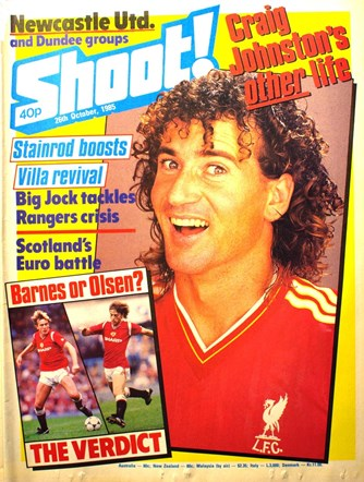 Craig Johnston on the cover of Shoot! 26 October 1985