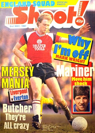 Southampton's Mark Wright on the cover of Shoot! 2 May 1987