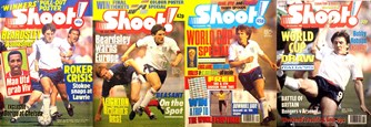 Peter Beardsley on the cover of Shoot! as an England player