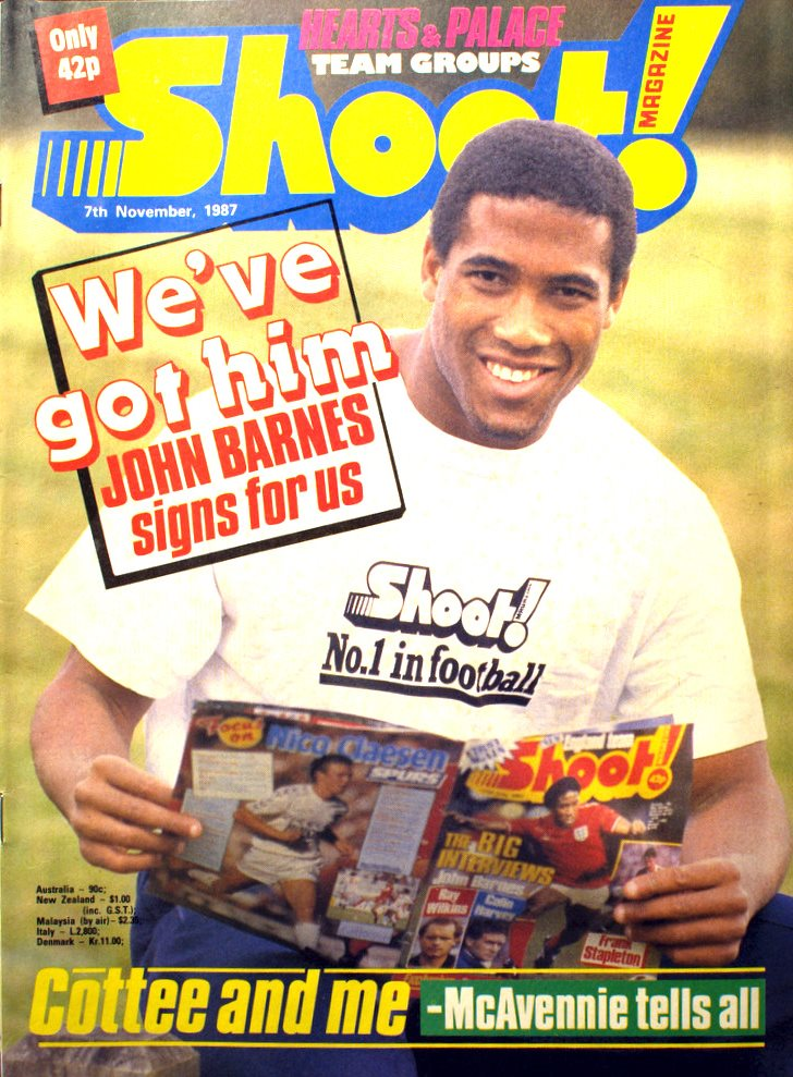 Barnes signs for Shoot! 7 November 1987