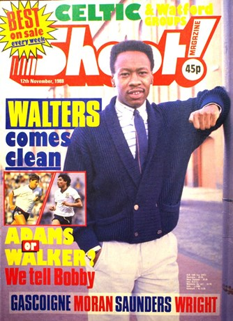 Rangers' Mark Walters on the cover of Shoot! 12 November 1988