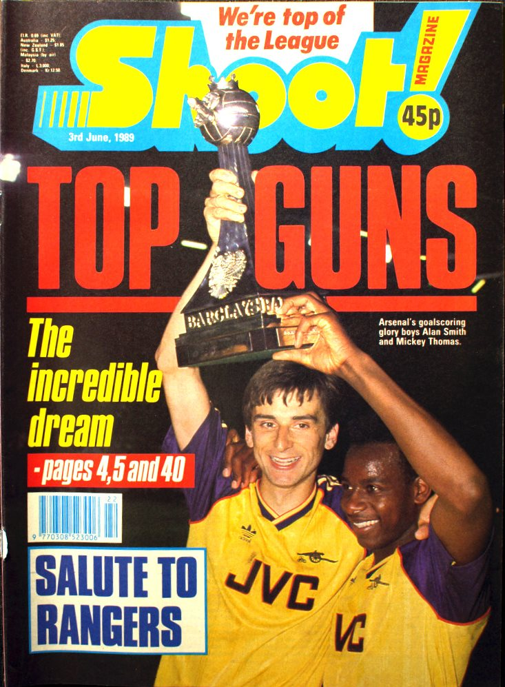 Michael Thomas on the cover of Shoot! 2 June 1989