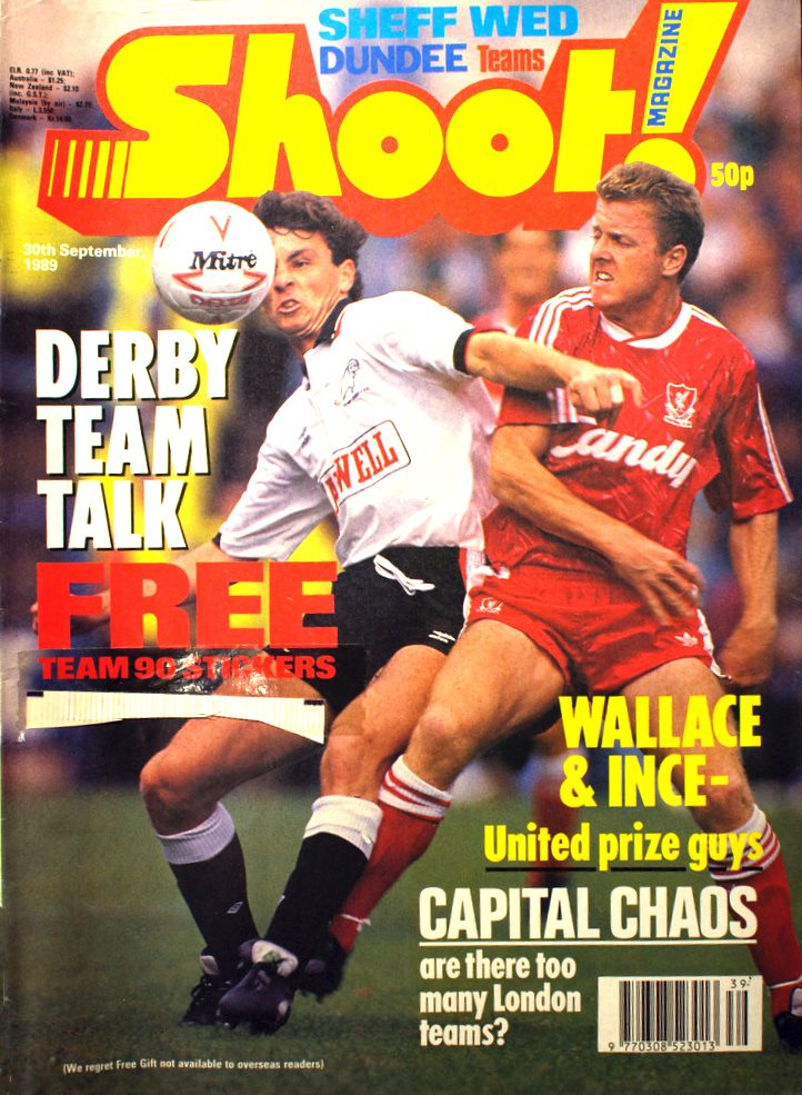 Steve Nicol on the cover of Shoot 30 September 1989