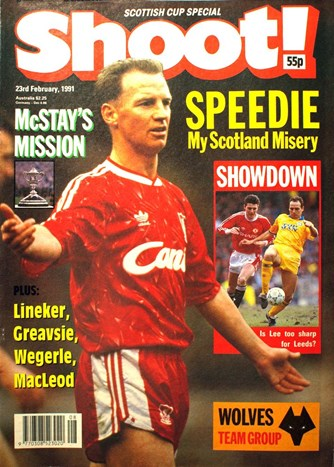 David Speedie on the cover of Shoot! 23 February 1991