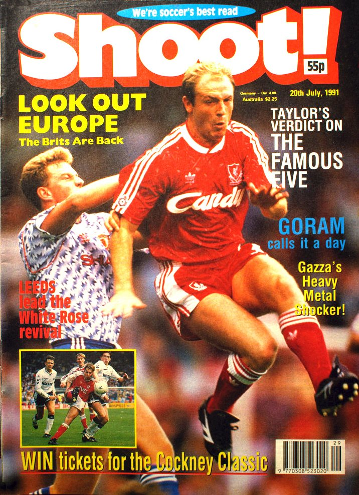 Steve McMahon on the cover of Shoot! 20 July 1991