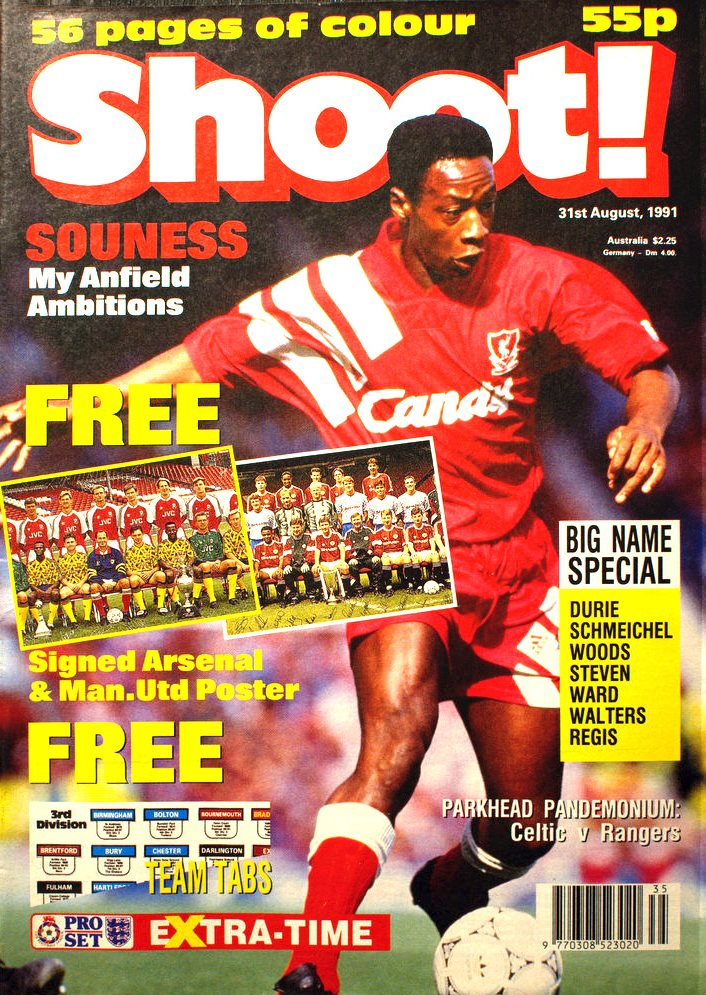 Mark Walters on the cover of Shoot! 31 August 1991