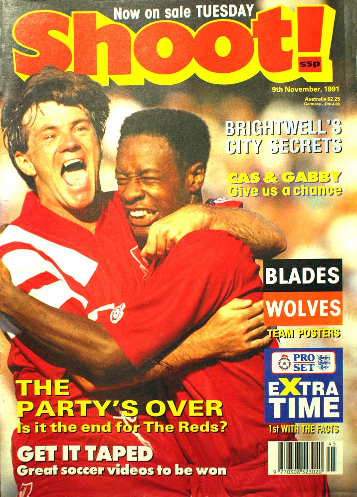 Mark Walters on the cover of Shoot! 9 November 1991