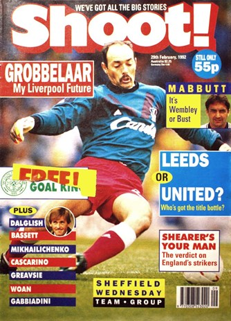 Bruce Grobbelaar on the cover of Shoot!