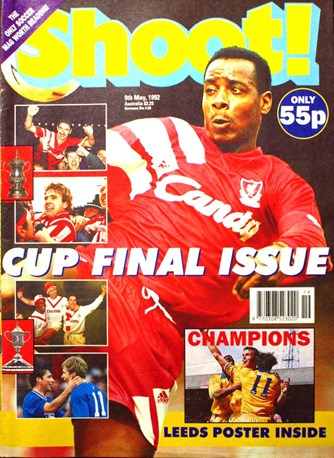 Michael Thomas on the cover of Shoot! 9 May 1992