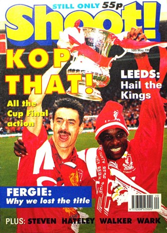 Michael Thomas on the cover of Shoot! 16 May 1992