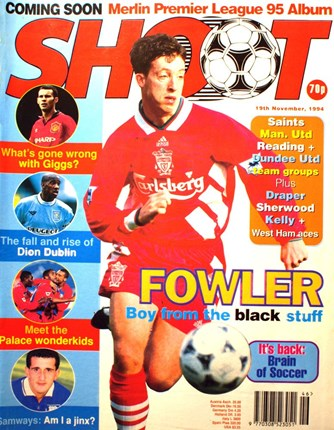 Robbie Fowler on the cover of Shoot!
