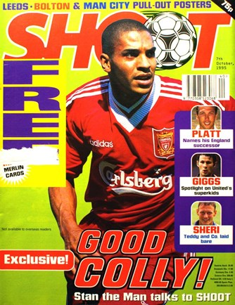 Stan Collymore on the cover of Shoot! 7 October 1995