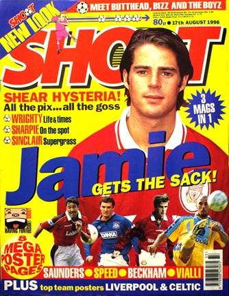 Jamie Redknapp on the cover of Shoot!