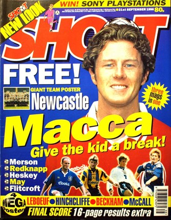 Steve McManaman on the cover of Shoot!