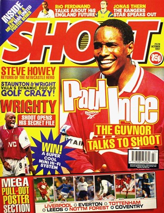 Paul Ince on the cover of Shoot! 25 October 1997