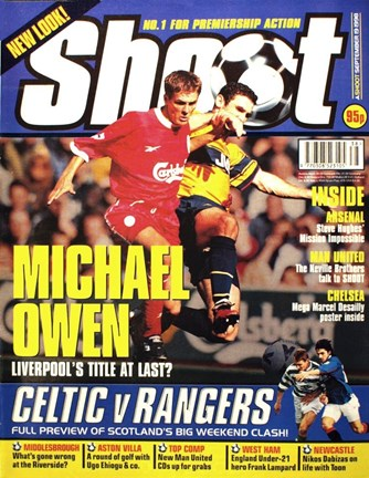 Michael Owen on the cover of Shoot!