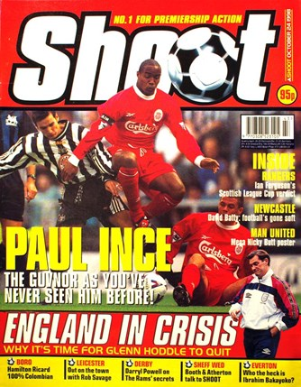 Paul Ince on the cover of Shoot! 24 October 1998