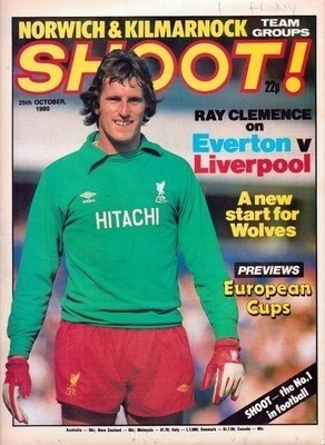 Ray Clemence on cover of Shoot