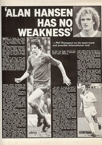 Alan Hansen has no weakness - 2 June 1979