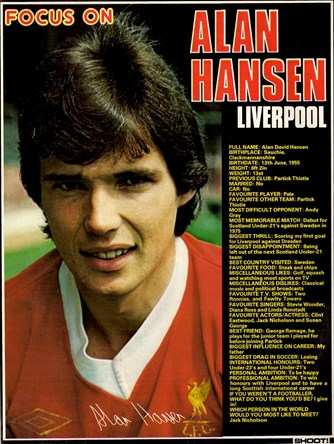 Focus on a young Alan Hansen