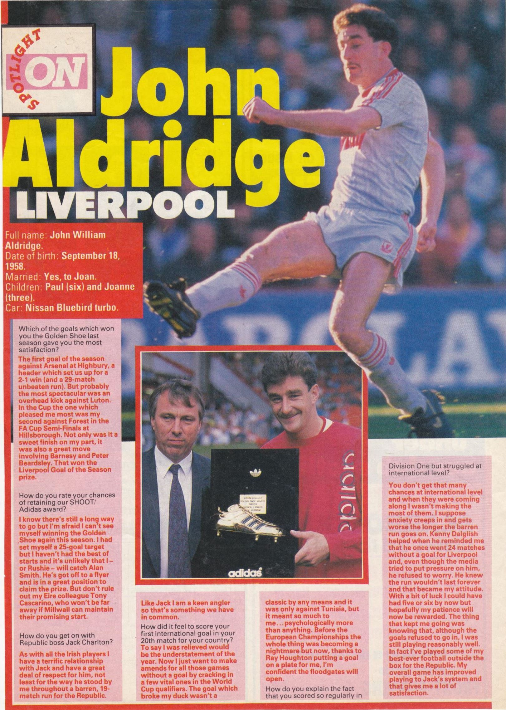 Spotlight on John Aldridge - 1988